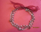 SALE Victorian mixed chain and pearl necklace