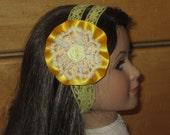 Sunny Yellow Elastic Lace/Ribbon/Floral/Ribbon Headband, Gossip Girl/Blair/ Style