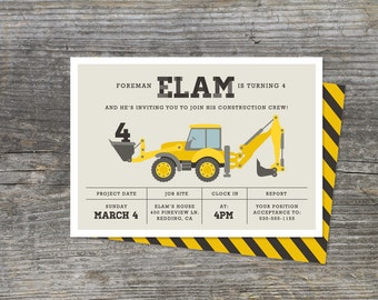 Construction Birthday Party Invitation, Construction Zone (15)
