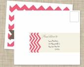 Pink Chevron Wrap Around Labels (12 count)