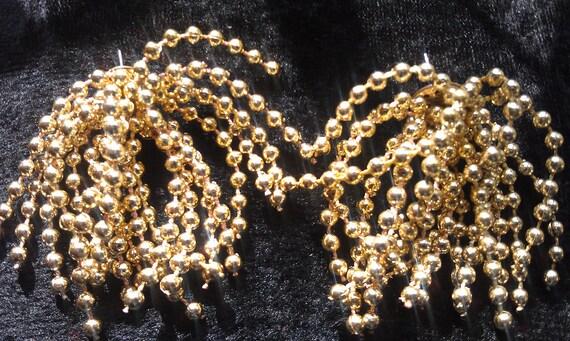 Earrings, Vintage, Gold Beaded Cascading Waterfall Design, Stud Back