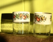 Pair of Small Pyrex Jars with