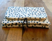 Padded Double pocket Pouch - Dot print.