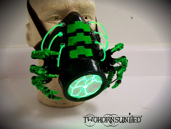 SALE 20% OFF The Facehugger cybernetic alien Apocalypse gas mask respirator by TwoHornsUnited