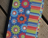 Gears of Progress, Colorful Notebook, Journal, Diary, Songwriters Journal