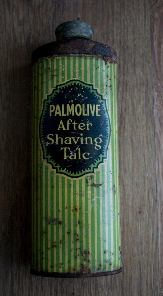 RESERVED Thierry Vintage Palmolive After Shave Talc 3 Pop Bottles and stamp pack