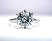 2.21ct E SI3 EGL Round Cut Solitaire Engagement Wedding Ring in 14k white gold