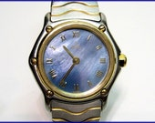 Swiss EBEL Classic Sport WAVE 18k Gold & Stainless Ladies WATCH