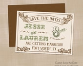 Save The Date Cards - Country Vintage Wedding - Professionally Printed