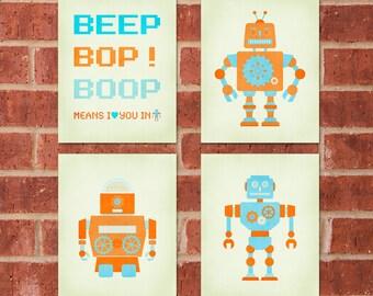 Robot Print - 8x10 - Retro Robot Bundle