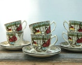 SALE:  Friendly Village Demitasse cup and saucer set
