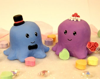 Octopus Wedding Cake Toppers