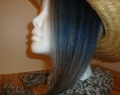 Honey Blonde and  Blue Clip on Hair Extension 4  x 12