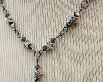 Necklace Elizabeth Y Drop, Star & Swarovski - SALE BOGOF