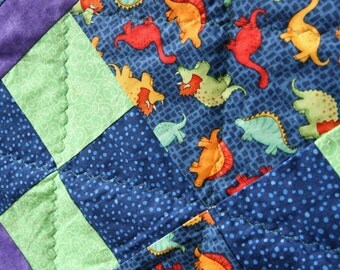 Clearance SALE Childrens Dinosaur Patchwork Quilt or Playmat