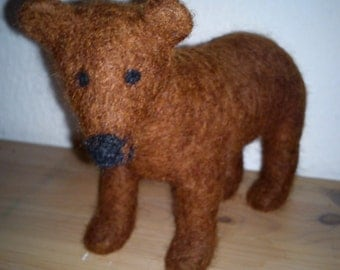 FREE SHIPPING Felted bear for children animal lovers eco friendly toy