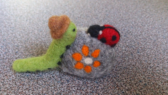 Needle felted miniature animal ornament gifts under 25