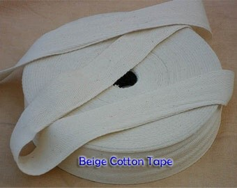 Natural Off-White Woven Trim Tape 15 mm width x  10 meter Roll (11 yards)