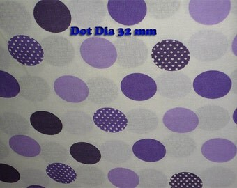 Cotton Fabric Purple Polka Dot 1 Yard Fabric 100 % Cotton