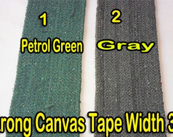 Heavy canvas Cotton Webbing Belt strap tape width 75 mm (3 Inch) X 1 Yards Color : Gray