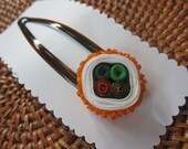 Sushi Hair Barrette with Masago Roe Japanese Sushi