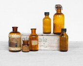 Apothecary Amber Glass Mini Collection