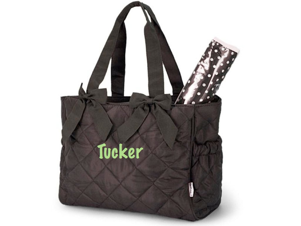 personalized monogrammed diaper bag w changing pad by azembroidery. Black Bedroom Furniture Sets. Home Design Ideas