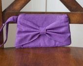 Bow Clutch, Purple