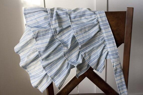 Ruffled Apron - Blue Stripe