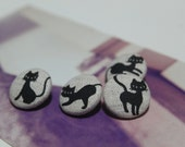 Siamese Cats Button Set of 4 - Be Cool