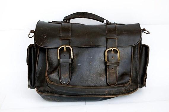 SALE Today Vintage Thick Leather Shoulder Bag