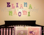 Wall Art Handpainted Butterfly Letters for a Baby's Nursery