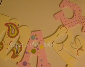 Paisley Hand Painted Letters for Nursery - Custom
