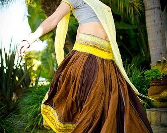 Indian Gypsy Skirt Outfit - OOAK