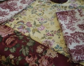 Old English style tablecloth/napkins classic florals