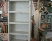 vintage chippy painted white sweet wood hanging  shelf shabby chic cottage prairie