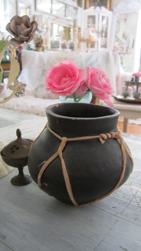 Vintage indian  pottery Bohemian shabby chic