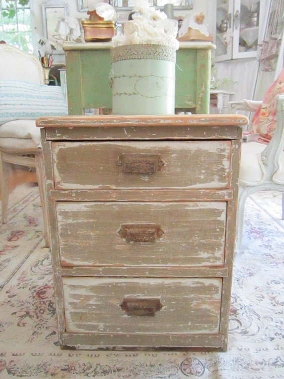 RESERVED Vintage cupboard cottage chic shabby chic chippy  painted   prairie cottage chic cabinet