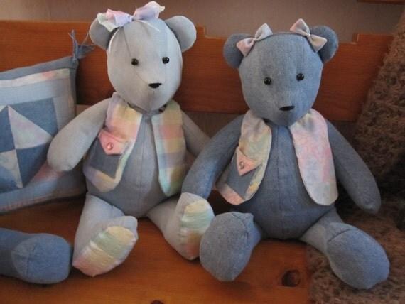Memories Recycled Custom Made To Order Teddies
