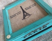 Tiffany Blue Paris Glam Shabby Chic Jewelry Box Custom an One of a Kind Design