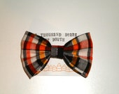 Bow // Halloween Plaid - 20% OFF