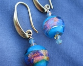 Foil Lampwork Earings