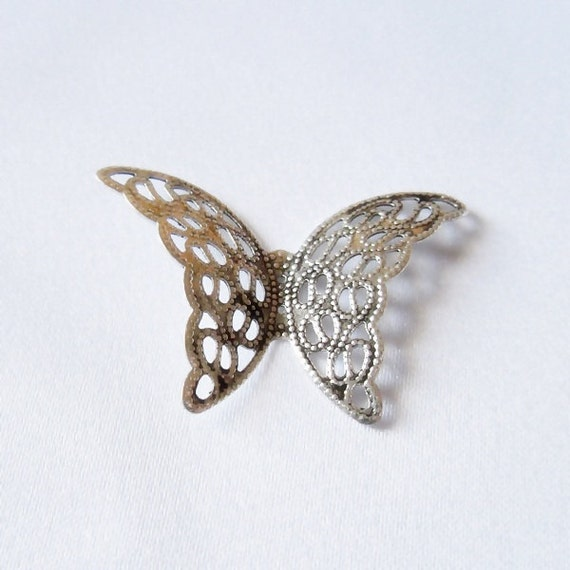 Silver Butterfly Cabochon