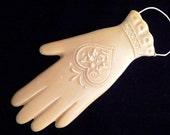 Handmade Artisanal Beeswax Ornament - Victorian Heart in Hand GLOVE