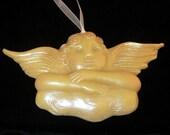 Handmade Artisanal Beeswax Ornament - Large VICTORIAN CHERUB
