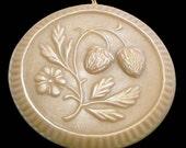 Handmade Artisanal Beeswax Ornament - Folk Art STRAWBERRIES