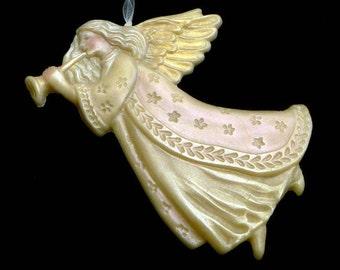 Handmade Artisanal Beeswax Ornament - ANGEL GABRIEL