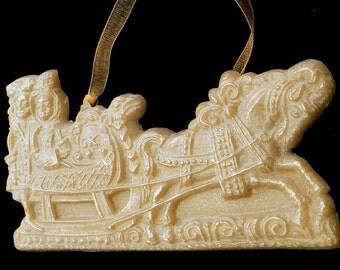 Handmade Artisanal Beeswax Ornament - 16th Century SLEIGH / SLED