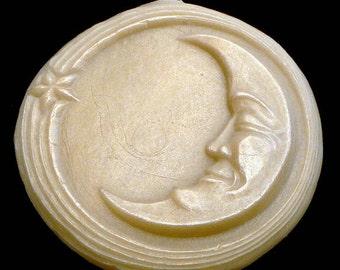 Handmade Artisanal Beeswax Ornament - Cresent MOON MAN