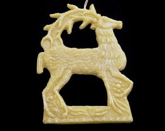 Handmade Artisanal Beeswax Ornament - 16th Century DEER / REINDEER